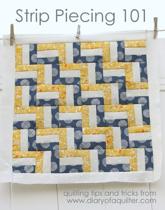 Quilting Tips for accurate Strip Piecing Short Cuts