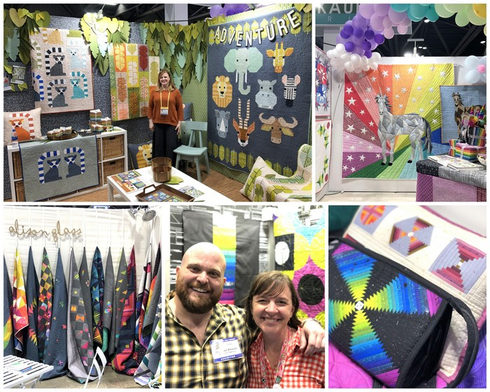 International Quilt Market featured by top US quilting blog Diary of a Quilter