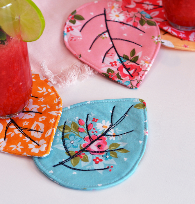 Quilted Coasters Tutorial featured by top US quilting blog Diary of a Quilter