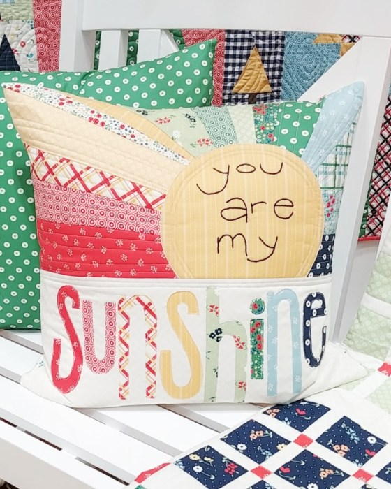 You are My Sunshine pillow tutorial by Ameroonie Designs