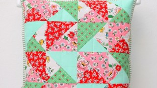 Simple Quilted Pillow Tutorial from Nadra of Ellis & Higgs
