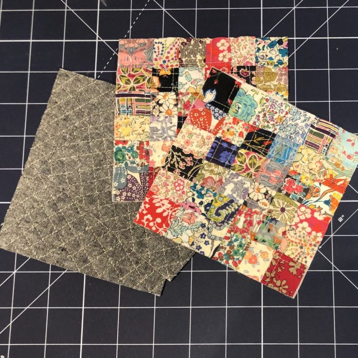 Scrappy Liberty Patchwork Pincushion by Guest May Chappell by popular quilting blog, Diary of a Quilter: image of pincushion tops and bottoms.