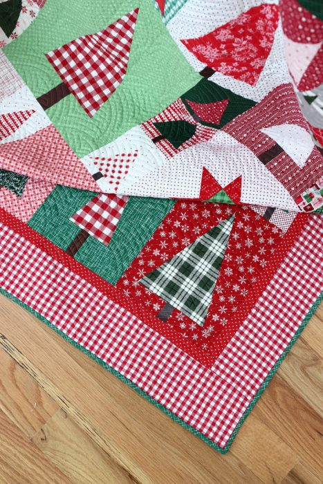 Christmas in July - Hand Stitched Christmas Ornament Tutorial by popular sewing blog, Diary of a Quilter: image of Christmas Tree block quilt.