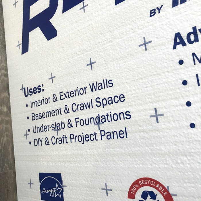 How to Build a Quilt Design Wall by Christa Watson by popular quilting blog, Diary of a Quilter: image of the back side of a foam core insulation board.