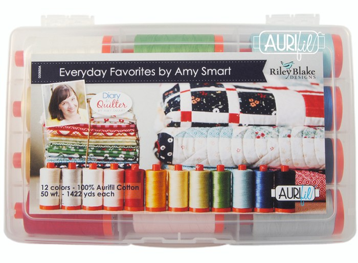 End of Year Clearance Quilting Sales For 2019 by popular Utah quilting blog, Diary of a Quilter: image of a Riley Blake thread box.