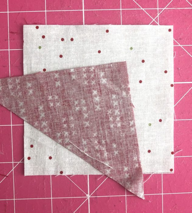 Adding point to a wonky star quilt block   Pine Hollow Patchwork Forest Quilt Along Week 4 by popular Utah quilting blog, Diary of a Quilter: image of of fabric for wonky star quilt square.