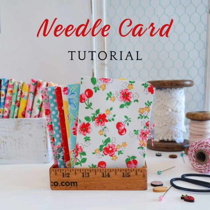 Fabric Covered Needle Cards | quilting
