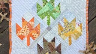 Scrappy Leaves Mini Quilt Tutorial by guest writer Leila Gardunia