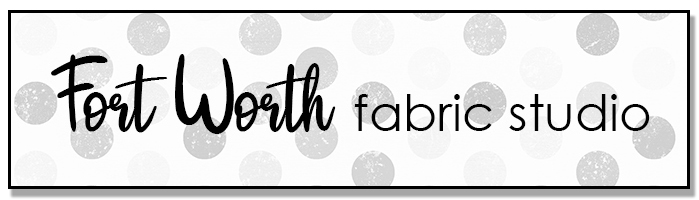 Meet updated Fort Worth Fabric Studio + Giveaway by popular Utah quilting blog, Diary of a Quilter: image of Fort Worth Fabric Studio logo.