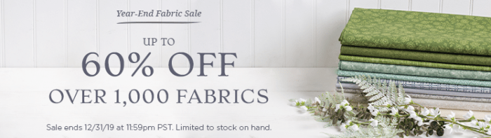 End of Year Clearance Quilting Sales For 2019 by popular Utah quilting blog, Diary of a Quilter: graphic image of Connecting Threads sale ad.