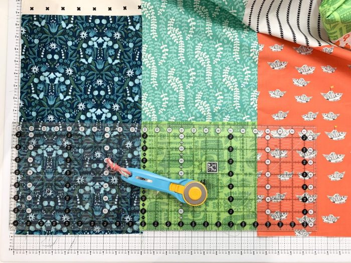 Fast & Easy Fat Quarter Quilt by popular Utah quilting blog, Diary of a quilter: image of fat quarter fabrics.