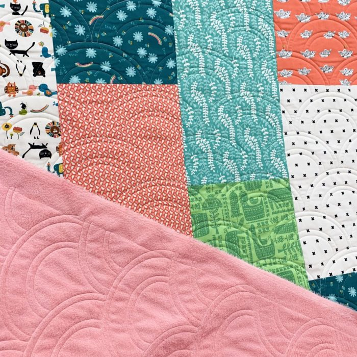 Fast & Easy Fat Quarter Quilt by popular Utah quilting blog, Diary of a quilter: image of a fat quarter quilt.