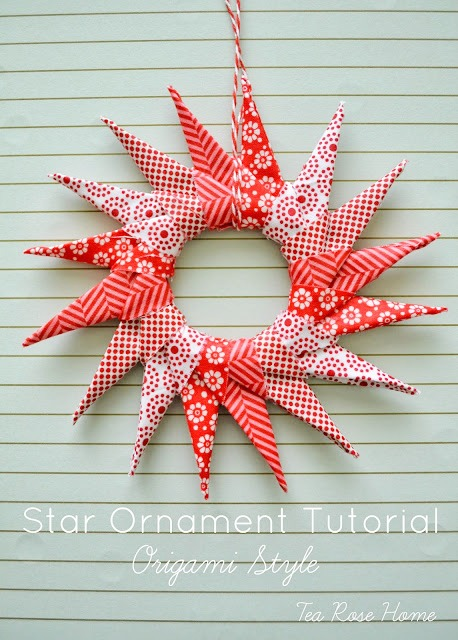 Handmade Christmas Ornament Ideas by popular Utah quilting blog, Diary of a Quilter: image of origami star ornament.