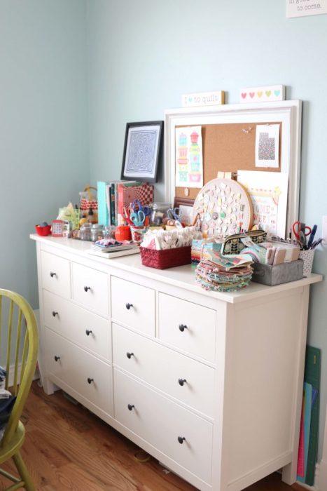 Ikea Hemnes dresser - storage for Sewing Room