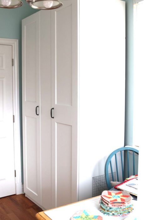 Sewing Room Update - Using a large Ikea Pax wardrobe for storage solutions