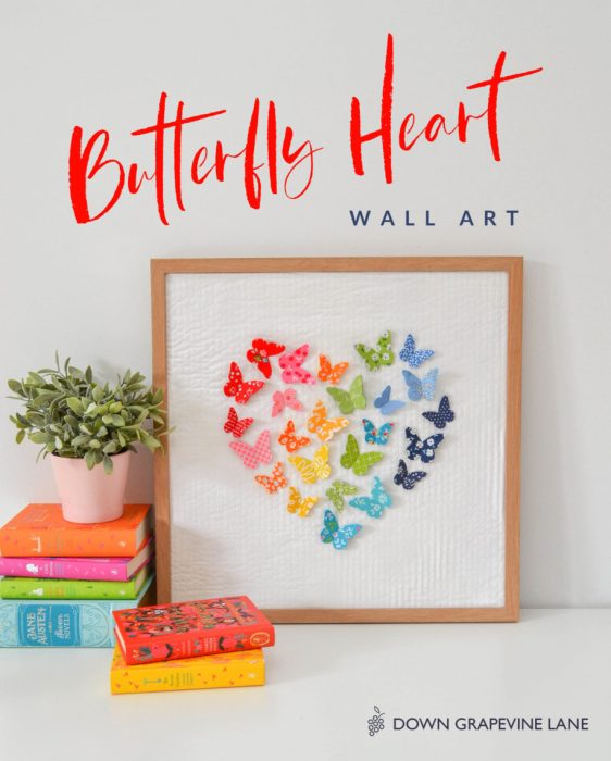 Butterfly fabric Wall Art tutorial by Sedef Imer for Diary of a Quilter