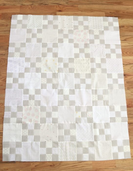 Irish Chain Nine Patch Quilt Tutorial