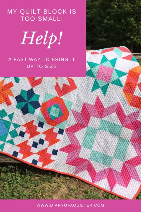 Tip for resizing a quilt block that is too small