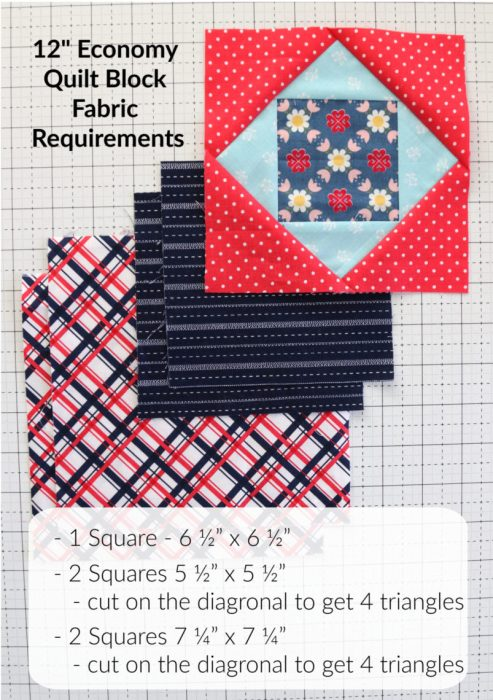 "12"" x 12"" Economy Quilt Block Tutorial"