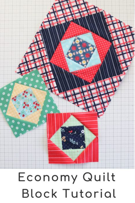 "Economy Quilt block tutorial - 6"" and 12"" sizes - by Amy Smart of Diary of a Quilter"