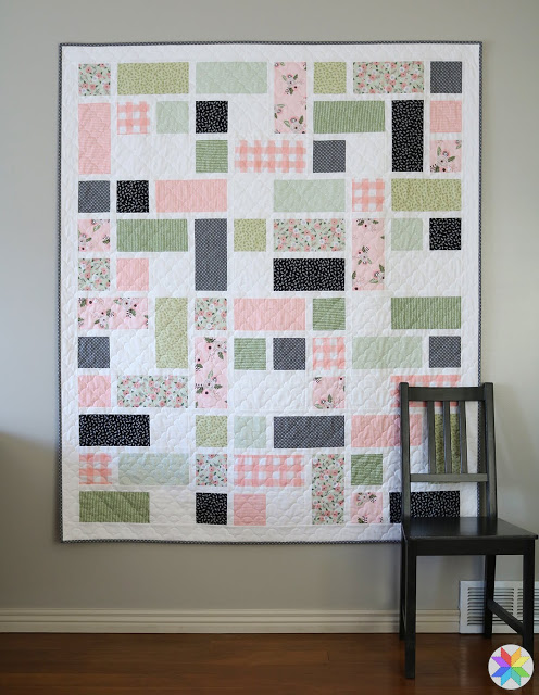 Grandstand Quilt pattern by Andy Knowlton featuring Modern Farmhouse Fabric from Riley Blake