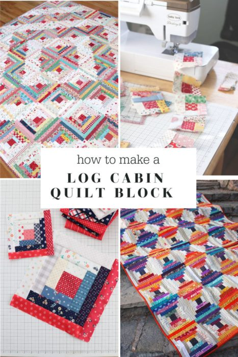 How to Make and Use a Log Cabin Quilt Block