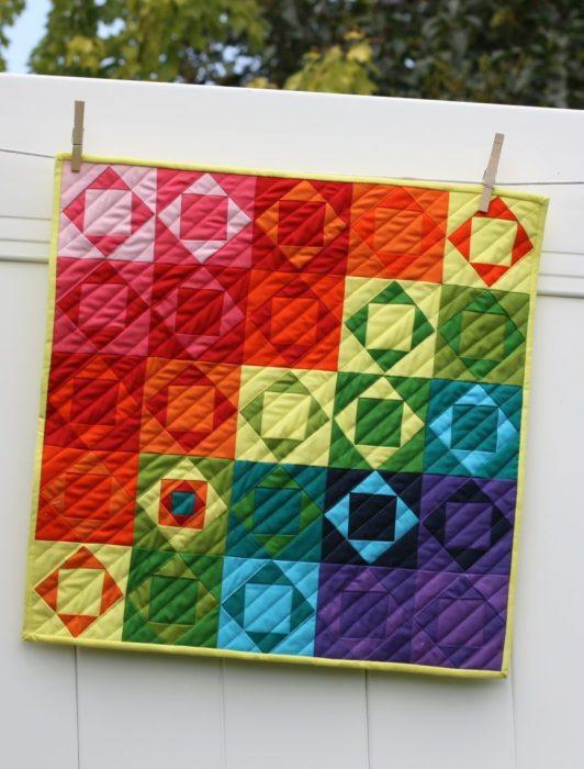 Modern Solids Economy Quilt block mini quilt