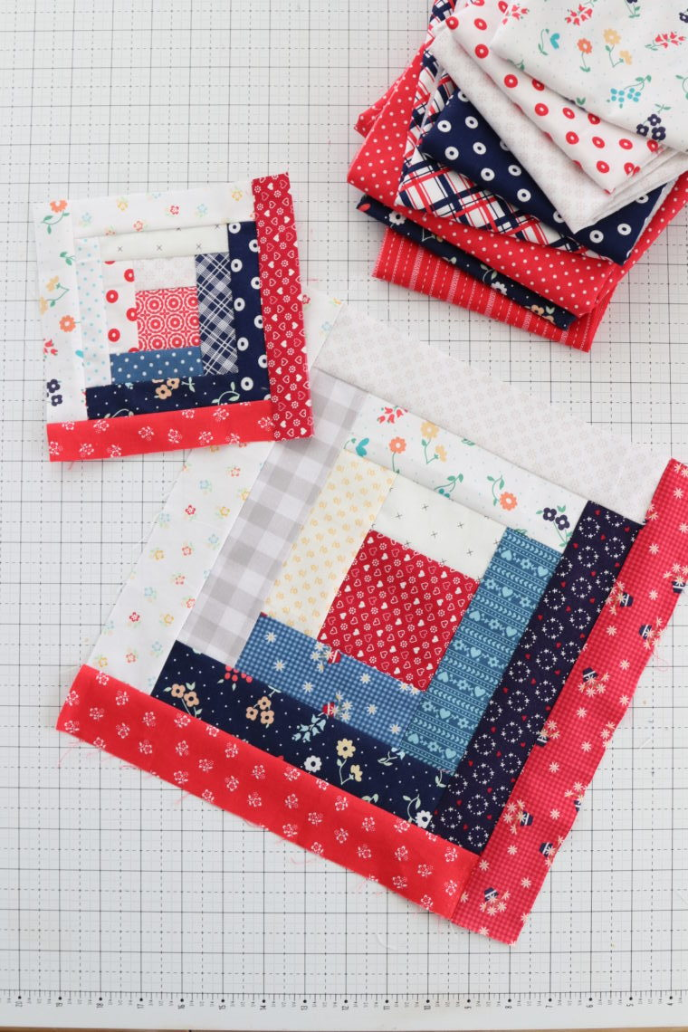 Log Cabin Quilt Block Tutorial Inspiration Diary Of A Quilter A Quilt Blog