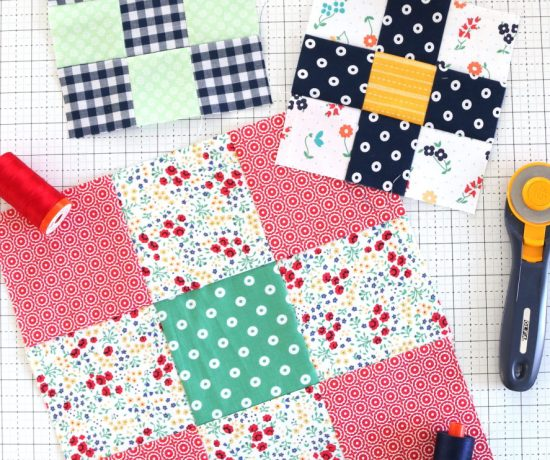 Nine Patch quilt block and pattern tutorials