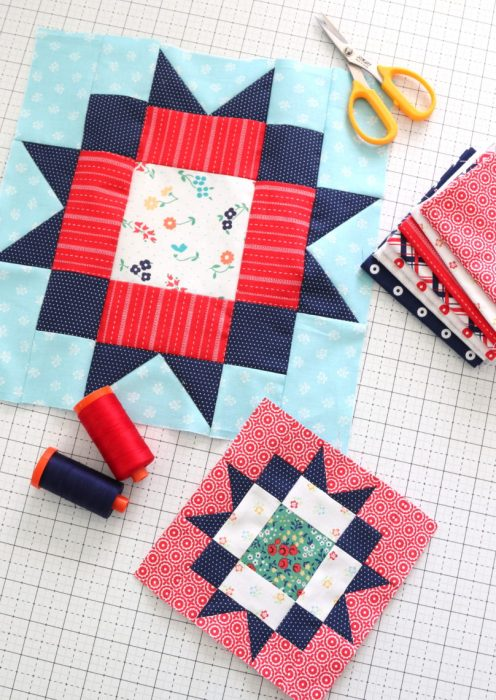 Maple Star Quilt block tutorial - part of the Riley Blake block challenge