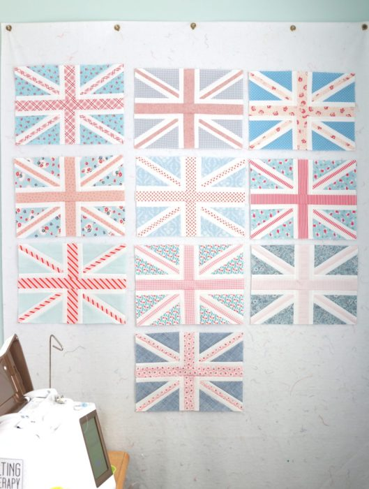 Union Jack Quilt blocks by Amy Smart of Diary of a Quilter