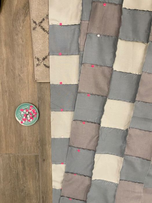 How to make Gingham Patchwork QUilt with Strip Piecing