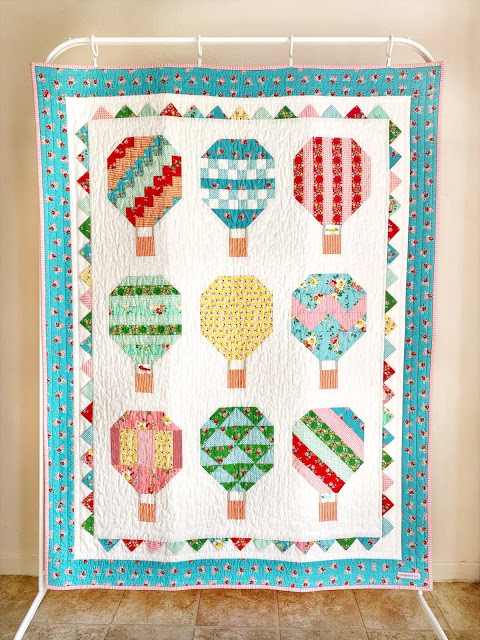 Summer-themed Sewing Projects - Hot Air Balloon quilt by Woodberry Way