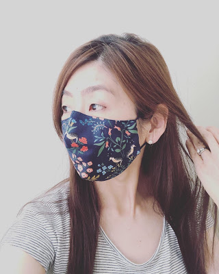Fitted face mask free pattern from Tea Rose Home