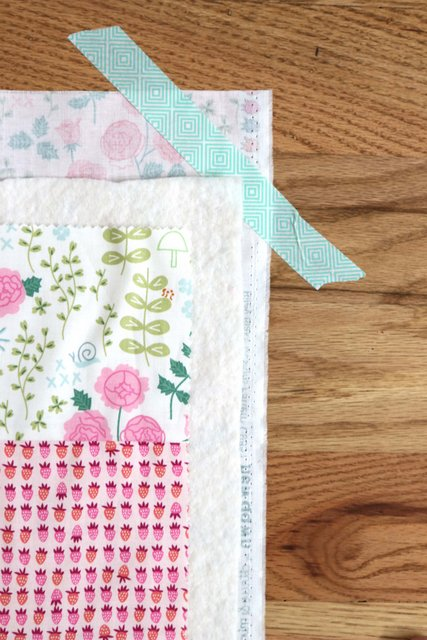 How to Make a Patchwork Baby Quilt with Precuts, a tutorial featured by top US quilting blogger, Diary of a Quilter