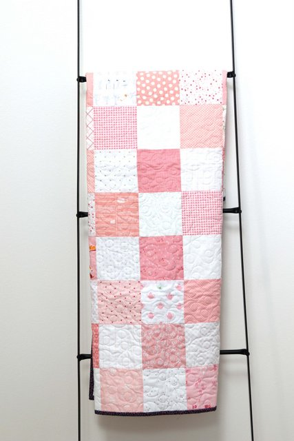 Simple patchwork baby quilt tutorial