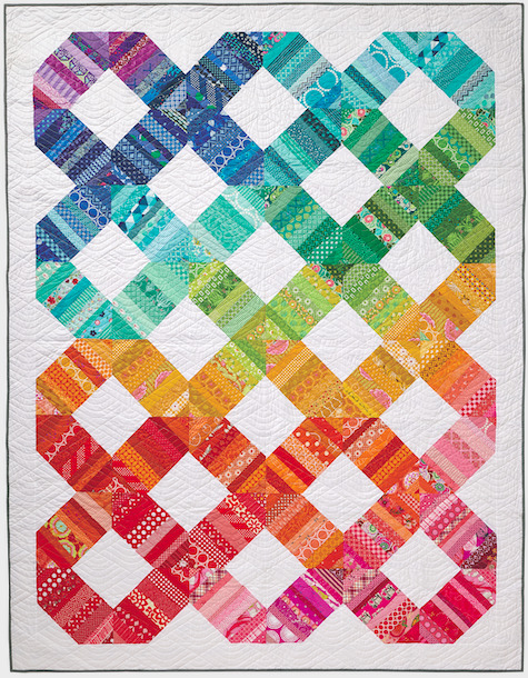 Scrap Happy Rainbow Connection quilt pattern design by Amy Smart - Diary of a Quilter