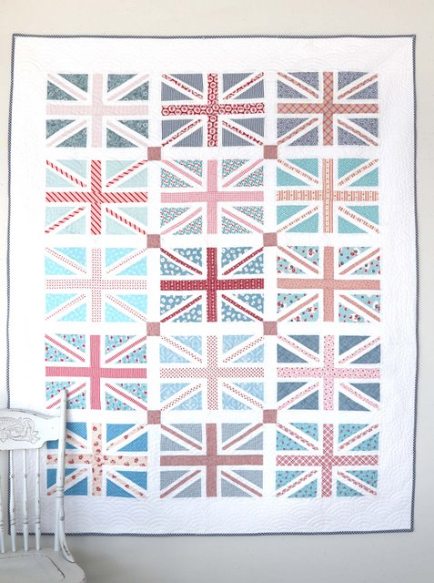 Union Jack quilt block pattern by Amy Smart of Diary of a Quilter