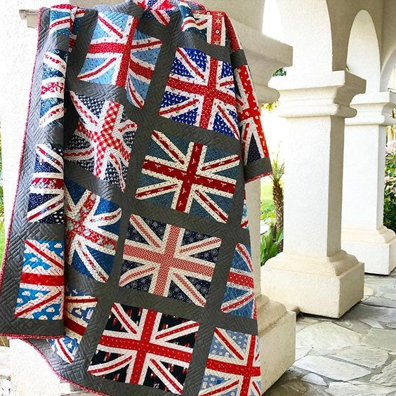 Union Jack quilt made by Amanda Niederhauser using pattern by Amy Smart