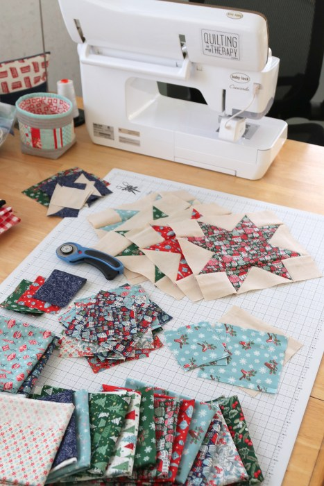 Making a Liberty of London Christmas quilt with a Baby Lock Crescendo sewing machine