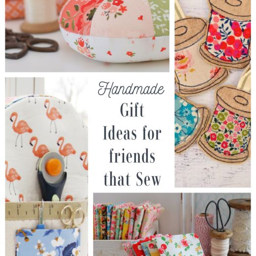 List of Handmade Gift Ideas for friends who sew or quilt - including pincushions, needlebooks, and thread catchers