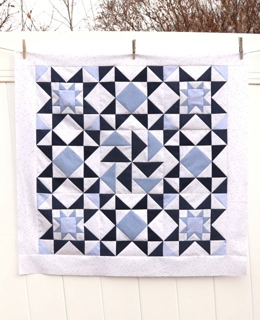 Chambray Blues - fabric from Riley Blake Designs. Quilt made by Amy Smart