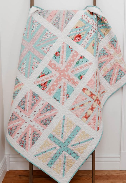 Union Jack baby quilt by Amy Smart of Diary of a Quilter
