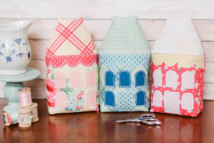 Little Village row houses - pattern by Ameroonie Designs featuring Notting Hill fabric