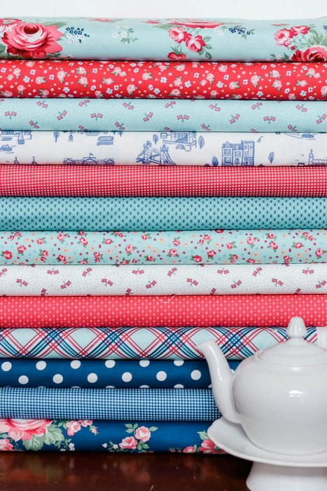 Red, white, and blue prints from Notting Hill collection for Riley Blake Designs