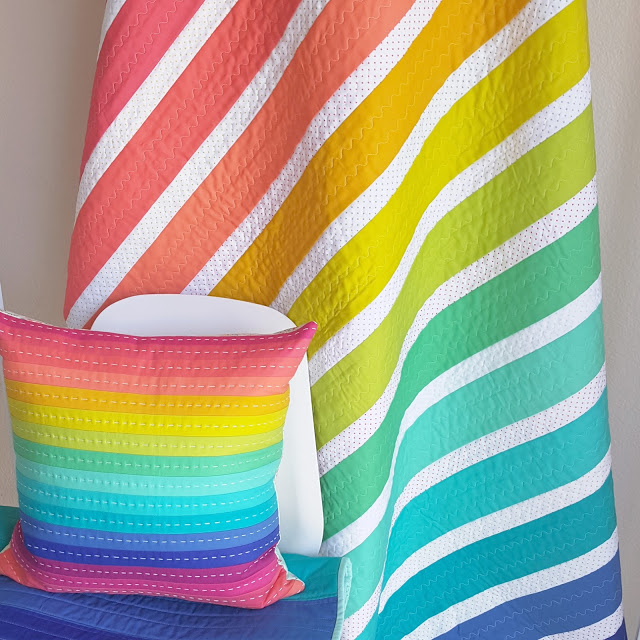 Rainbow Remix Quilt tutorial by Allison Jensen of Woodbury Way