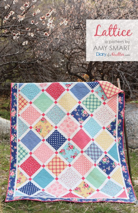 Lattice Quilt pattern by Amy Smart of Diary of a Quilter