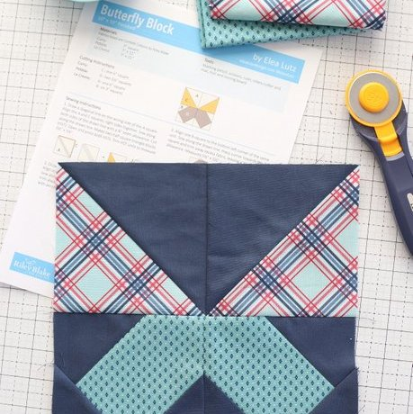 Free Butterfly Quilt Block pattern from Riley Blake Designs