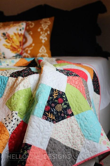 Broken Lattice Quilt pattern by Hello Melly Designs