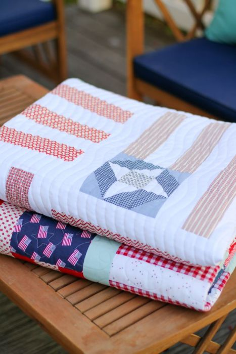 US Flag quilts